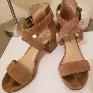 VIA SPIGA Suede Heel Sandals
